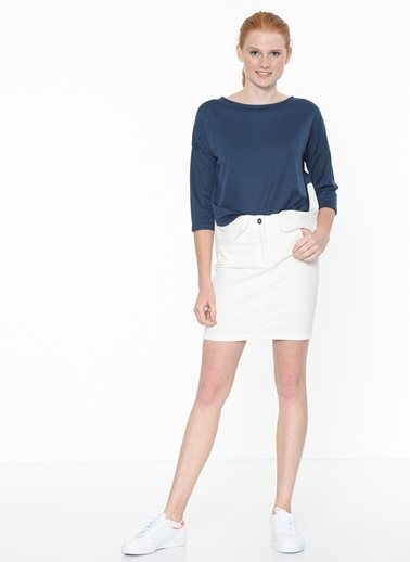 Mavi Kayık Yaka Sweatshirt Lacivert